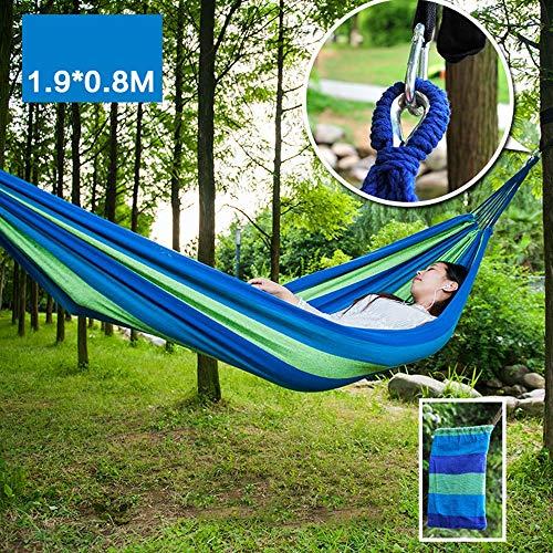 XiuHUa Hangmat - Duurzame outdoor camping katoen stof volwassen dubbele enkele draagbare hangmat, ultra licht, kinderhangmat schommel, anti-rollover, geschikt voor familie, student slaapzaal, reizen, strand C