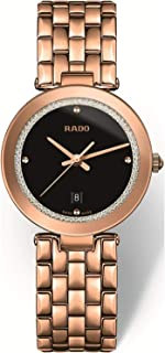 Rado Women's Black Dial Metal Band Watch - R48873183