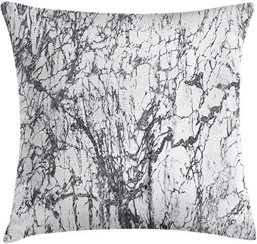 Cojín de Tiro Abstracto Funda de cojín Motivos de Roca de mármol turbio con Fractal Abstracto e impresión 18 'X 18'