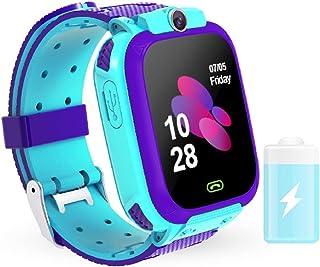 WESSD Smart Fitness Tracker Polshorloge 1. 44 Inch Waterdichte Baby Kids Activity Tracker Hartslagmeter Met Voice Chat Lbs...