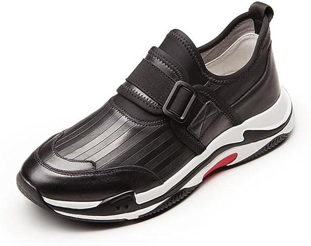 CJC Chaussures de Mode en Cuir d'alpinisme extérieure de Mode des Hommes (Couleur   noir, Taille   EU41 UK7.5-8)