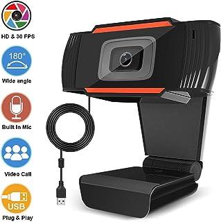 HD 1080P Webcam with Microphone, Auto Focus Webcam, HD Computer Camera Web Camera PC Webcam for Video Calling Recording Conferencing 5 Megapixel