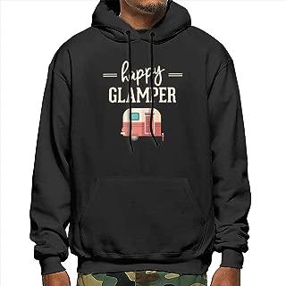 Men's Fleece Hooded Sweatshirt Slim Fit Hoodie Pullover Outwear Drawstring Tunic