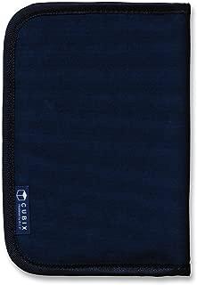 キュービックス ブックカバー ラウンドジップ (文庫サイズ) ネイビー 114015-08