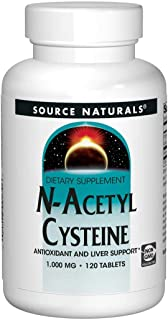 Source Naturals N-Acetyl Cysteine Antioxidant Support 1000 mg Dietary Supplement That Supports Respiratory Health - 120 Tablets