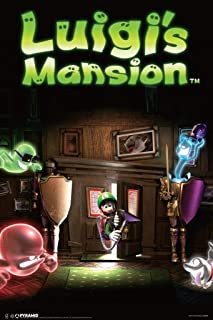 Pyramid America Luigis Mansion Video Game Laminated Dry Erase Sign Poster 12x18