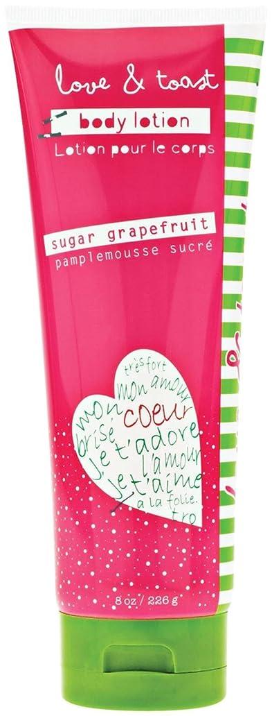 高音タバコシンカンLove & Toast by Margot Elena, Body Lotion, Sugar Grapefruit, 8 oz (226 g)