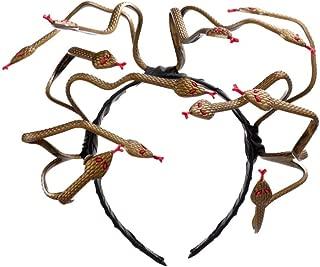1Pcs Halloween Party Carnival Costume Hair Clasp PVC Scary Medusa Snake Headband