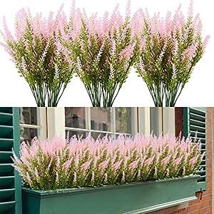 HAPLIA 8 Bundles Lavender Artificial Flowers, Colored