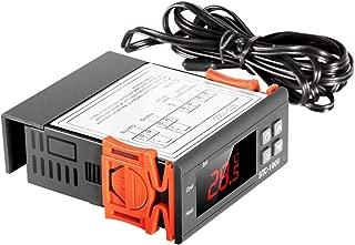 HOYOA Digital Temperature Controller Thermostat STC-1000 with Sensor 2 Relays Centigrade Thermostat for Aquarium Hatching Seafood Machine Freezer