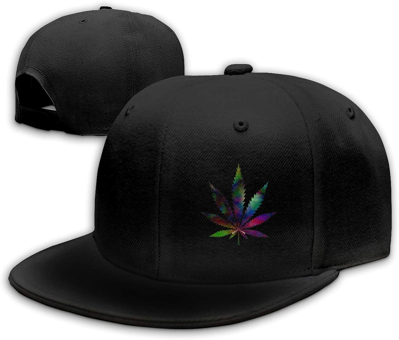 Tie Dyed Pot Leaf 1 Hip-Hop Hat Baseball Cap Peaked Cap Trucker Cap Dad Cap Unisex Adjustable Hat Size Black