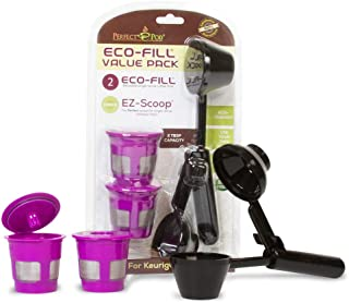 Perfect Pod ECO-Fill Reusable K-Cup Coffee Pod Filters and Coffee Scoop (Value Pack)