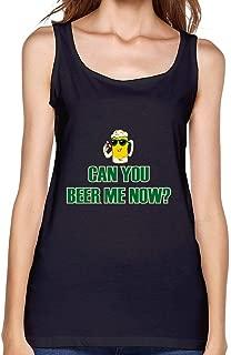 Guwmi Women's Can You Beer Me Now Funny Vest Red XXXL