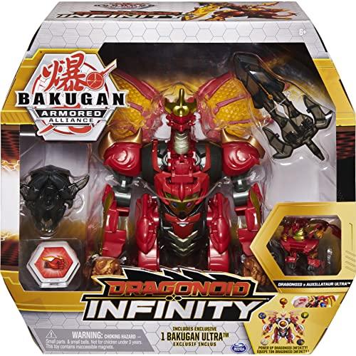 Bakugan Armored Alliance Dragonoid Infinity, überdimensionale Sammelfigur exklusivem Dragonoid x Auxillataur Fusion Bakugan und 10 Teilen Baku-Gear