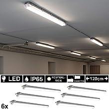 2 x 40W LED Wannen Leuchten Tages Licht Garagen Hallen Lampen 4000K Feucht Raum
