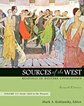 Sources of the West: Readings in Western Civilization, from 1600 to the Present: 2