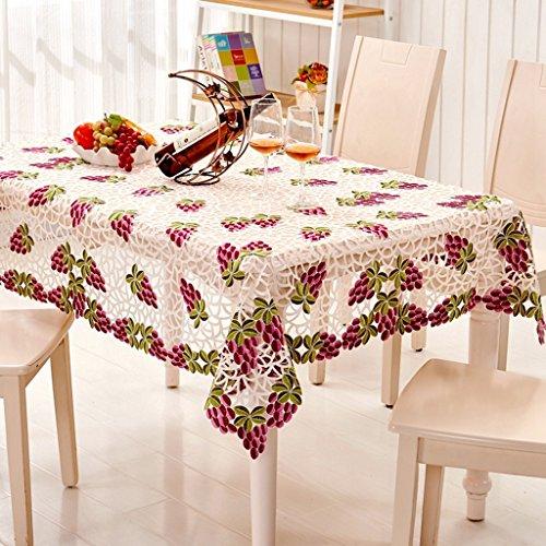 Nappe européenne Élégante nappe florale vintage Tissu de table basse Tissu de table ronde (taille : 85 * 145cm)