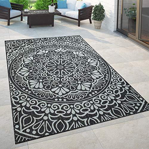 Paco Home In- & Outdoor-Teppich, Für Balkon Und Terrasse Mit Orient-Muster, In Schwarz, Grösse:160x220 cm