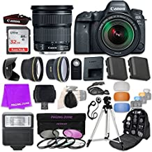 Canon EOS 6D Mark II 26.2 MP Full-Frame CMOS Digital SLR Camera Bundle with EF 24-105mm f/3.5-5.6 is STM Lens & SanDisk 32GB Ultra Class 10 SDHC UHS-I Memory Card and Professional Accessory Bundle