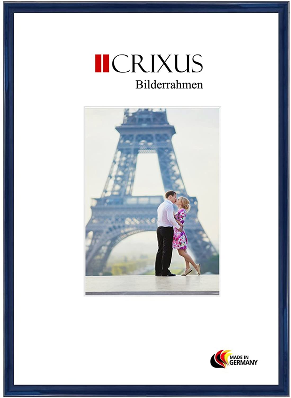 CRIXUS Crixus23 Marco de Fotos de Madera SóLIDA para 71 x 31 cm Fotos, Color  Azúl Brillo, con Vidrio acrílico antirreflectante (1mm), Ancho del Marco  23mm, Tallas externas  74,4 x 34,4 cm