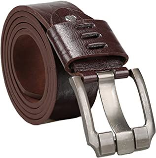 uxcell Men Argyle Embossed Single Prong Buckle 2inches Wide Adjustable Casual Belt
