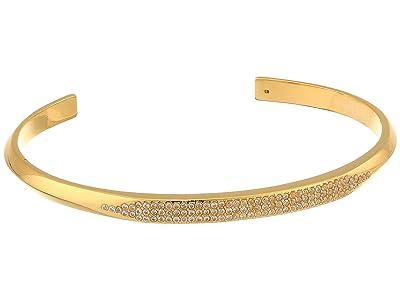 Kate Spade New York Raise The Bar Pave Cuff (Clear/Gold) Bracelet