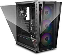 DEEPCOOL MATREXX 70 3F Case, 3 CF120 ADD RGB Fans and 1 ADD RGB LED Strip Pre-Installed, E-ATX Supported, One-Touch-Release Front Panel, Easy-to-Install Side Panel, All-Round Dust Proof