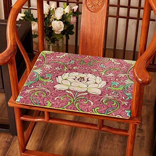 Set Of 4 Chair Cushions Chinese Rosewood Chair Cushion Futon Seat Cushion Non Slip Washable Chair Pad Tatami Floor Cushion Solid Wood Chair Cushion (Color : H, Size : 50x50cm(20x20inch))