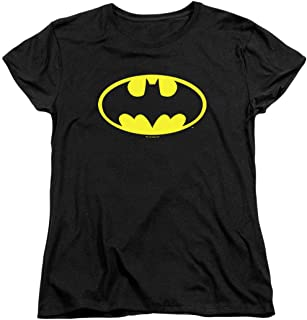Womens Batman Classic Logo T Shirt for & Stickers