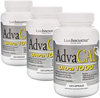 Lane Innovative - AdvaCAL Ultra 1000, Bone-Building Calcium*, Including Vitamin D3 and Magnesium, Easy Absorption (120 Cap...