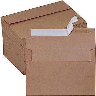 150 Pcs A8 Invitation Envelopes Self Seal Kraft Square Flap Envelopes for Wedding Party Invitation 5x7 Photo Envelope Repl...