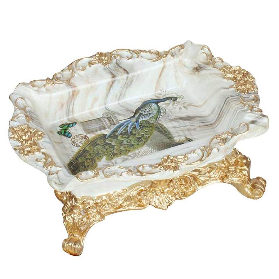寄付ランチ小康ZLZ- レトロ灰皿樹脂装飾居間寝室ホーム大灰皿ギフト シンプルな