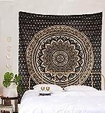 The Art Box - Tapiz con Mandala para colgar en la pared, tapiz psicodélico, de algodón indio, manta de pícnic, decoración de pared, arte hippie, decoración de dormitorio