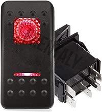 Frentaly Red 12V 20 Amp Waterproof ON Off Custom Marine Boating Vehicle 5 Pin Control Kit Toggle Rocker Switch