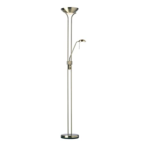Endon Mother and child floor lamp with an Antique finish