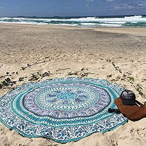 Toalla de Playa Cubierta de Playa de natación de Verano Bikini Boho Vestido de Verano Traje de baño Traje de baño (Color : Light Green)