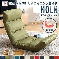 日用品 座椅子 関連商品 日本製リクライニング座椅子(布地、レザー)14段階調節ギア、転倒防止機能付き ブラウン