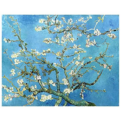 Legendarte - Stampa su tela - Mandorlo In Fiore - Vincent Van Gogh - Quadro su Tela, Decorazione Parete cm. 80x110