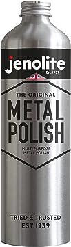 JENOLITE Liquid Metal Polish - Multi Purpose Polish For Brass, Copper, Chrome, Stainless Steel & Pewter - 500ml: image