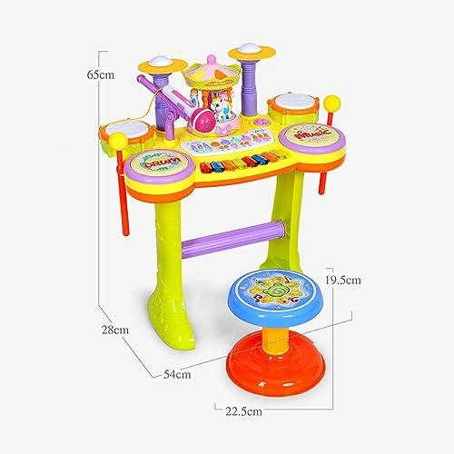 LINGLING-Trommel Spielzeug Anf er Drums Kinder 3-6 Jahre alt Instrument Karussell Musik Brunnen Geschenk (Farbe   B)