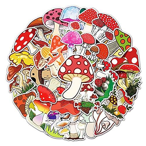 STKCST Dibujos Animados de Anime Mushroom DIY Stickers Pack Notebook Creative Sticker Decal Decoración Maleta Pegatinas Coche Impermeable Colorido Lindo Estético Vinilo Personalizado Etiqueta