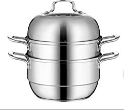 Stainless Steel, Three-layer Thickened Composite Bottom, Household Steamer, Gas Stove, General Purpose Induction Cooker 2...