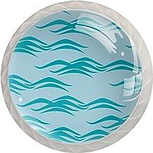 Lade Handgrepen Kabinet Knoppen Ronde Pack van 4 voor kast, lade, borst, dressoir etc. Oceanic Theme