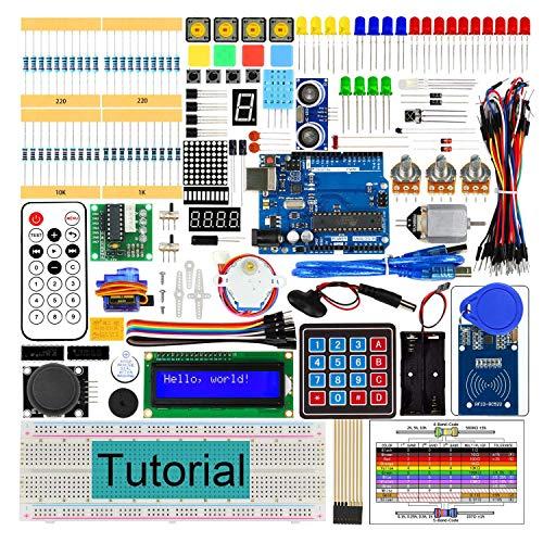 AGOAL RFID Starter Kit V2.0 mit Entwicklungssteckplatine, 252 Seiten detailliertes Tutorial, 198 Teile, 49 Projekte, lötfreie Steckplatine