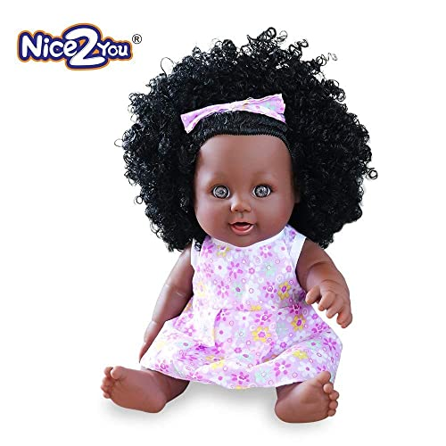 bbe90e2f1 Nice2you Black Girl Dolls African American Dolls Lifelike 12 inch Fashion  Play Dolls for Kids Children
