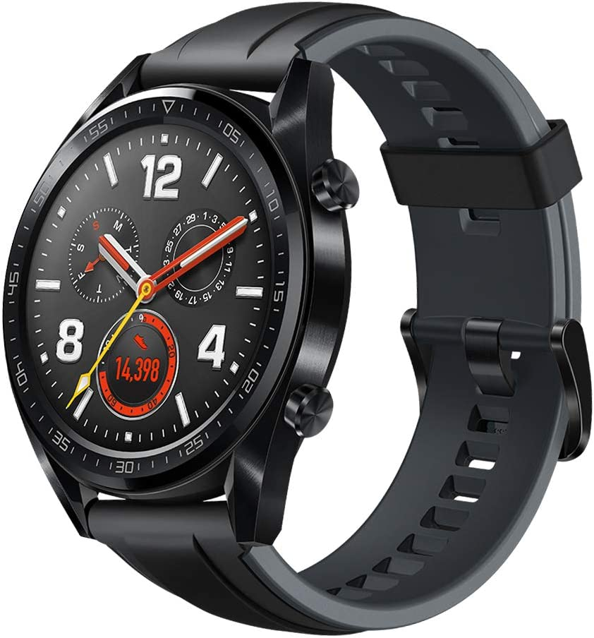 """HUAWEI Watch GT Sport - GPS Smartwatch with 1.39"""" AMOLED Touchscreen, 2-Week Battery Life, 24/7 Continuous Heart Rate Monitor, Indoor and Outdoor Sports, 5ATM Waterproof (US Warranty)"""
