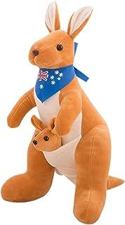 Heberry 32 cm Mother &Child Kangaroo Doll Plush Toys,Anime Kawaii Soft Pillow Backrest Waist Cushion, Creative Home Orname...