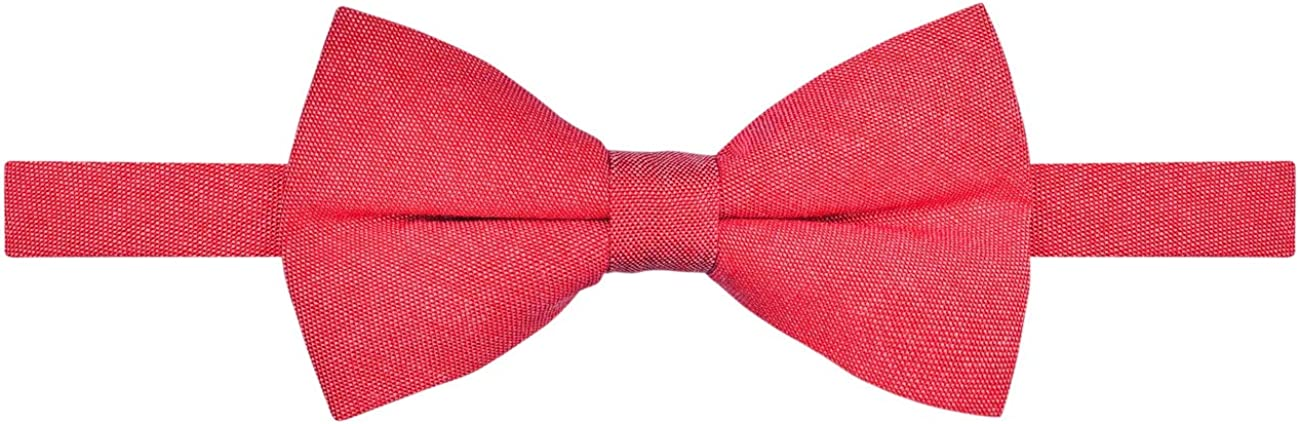 Retreez Solid Plain Color Cotton Pre-tied Boy's Bow Tie