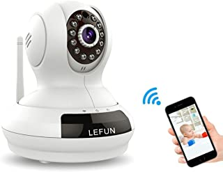 LeFun Wireless Camera, Baby Monitor WiFi IP Surveillance Camera HD 720P Nanny Cam Video Recording with Pan Tilt Remote Motion Detect Two Way Audio and Night Vision - Güvenlik Kamerası
