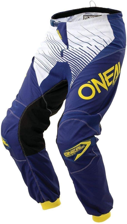 O'Neal Men's Element Racewear Pant (blueee Yellow, Size 28)